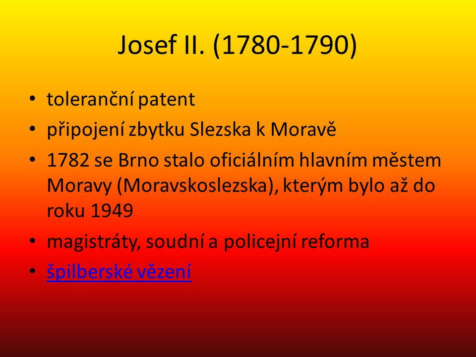 Josef II. (1780-1790) toleranční patent