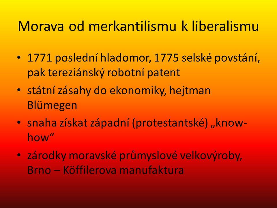 Morava od merkantilismu k liberalismu