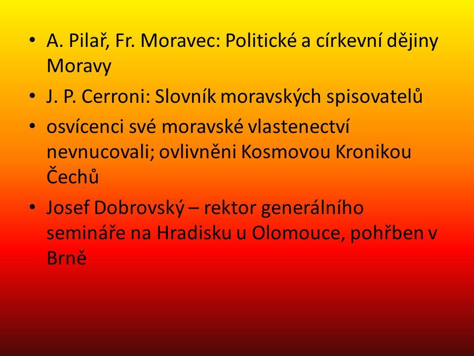 A. Pilař, Fr. Moravec: Politické a církevní dějiny Moravy