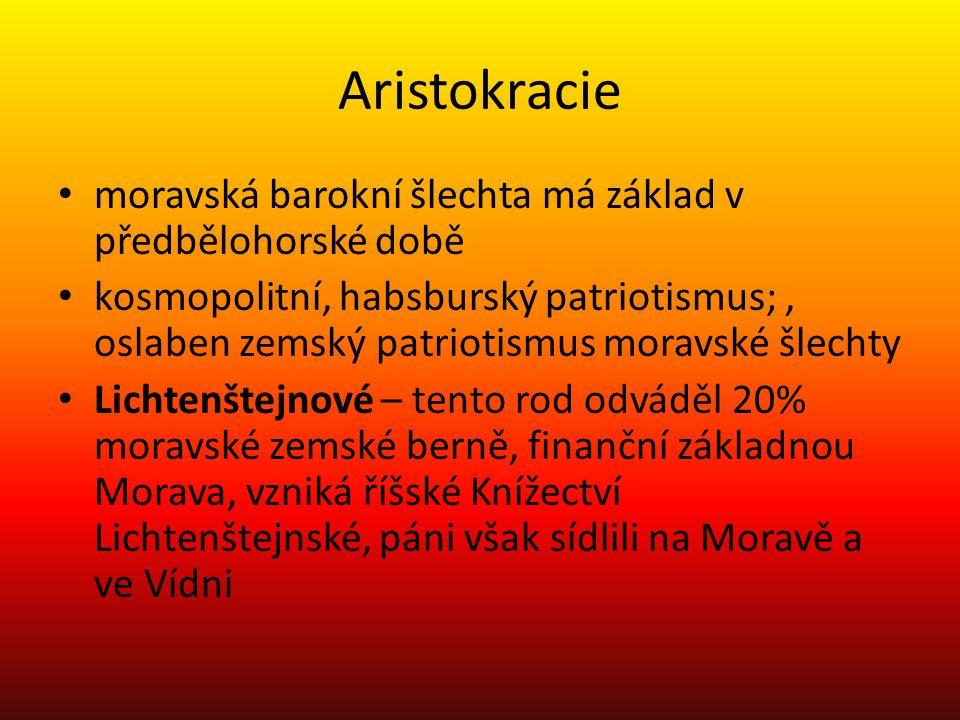 Aristokracie moravská barokní šlechta má základ v předbělohorské době