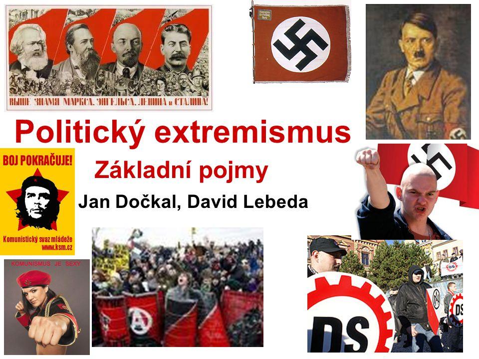 Politický extremismus Základní pojmy Jan Dočkal, David Lebeda