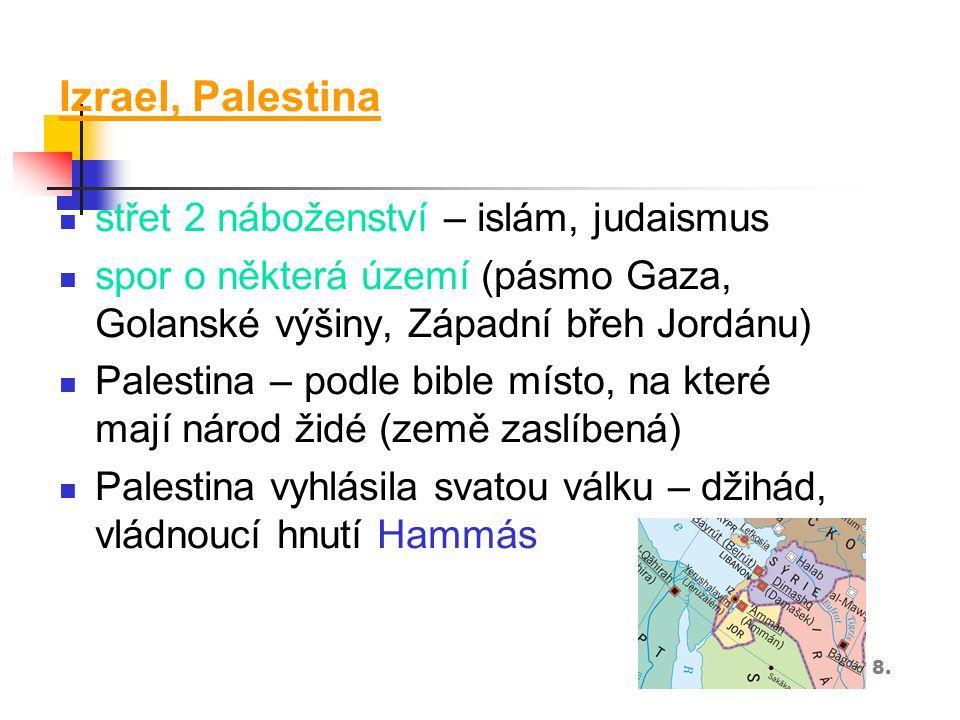 Izrael, Palestina střet 2 náboženství – islám, judaismus
