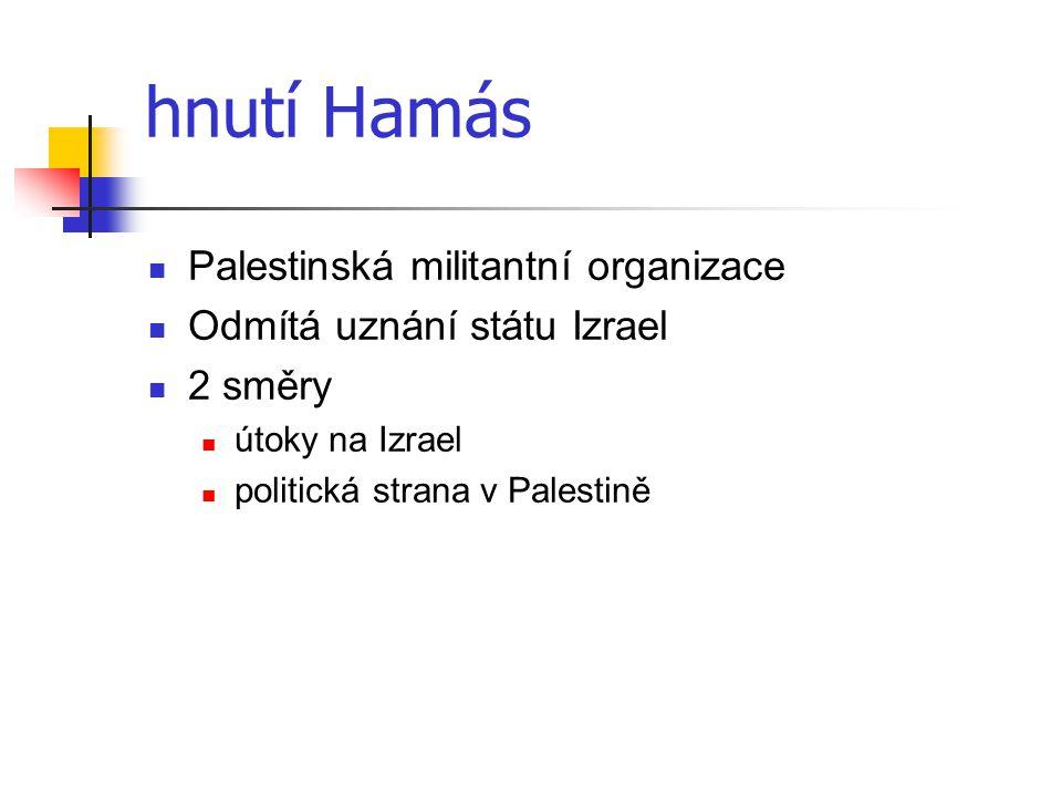hnutí Hamás Palestinská militantní organizace