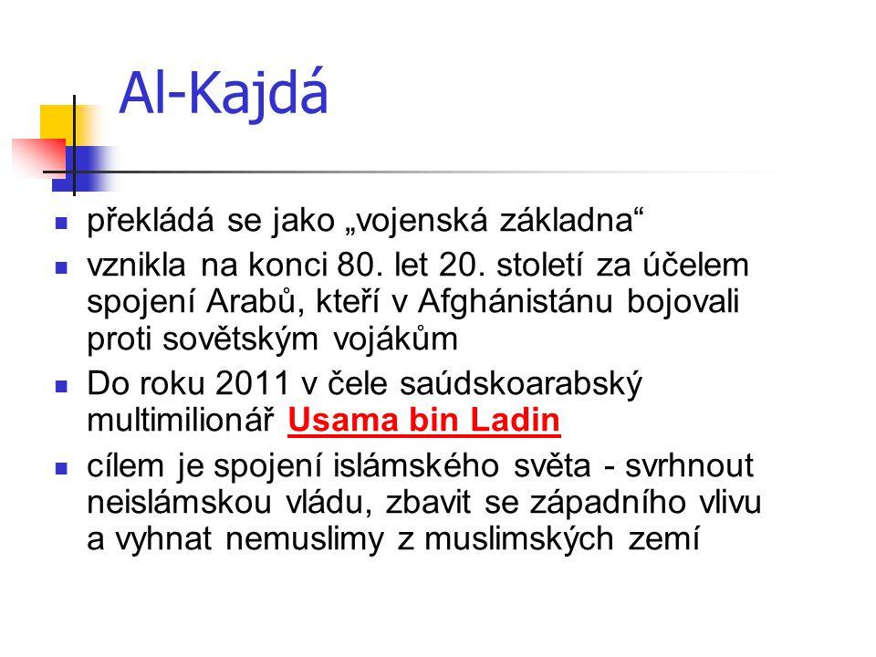"""Al-Kajdá překládá se jako """"vojenská základna"""