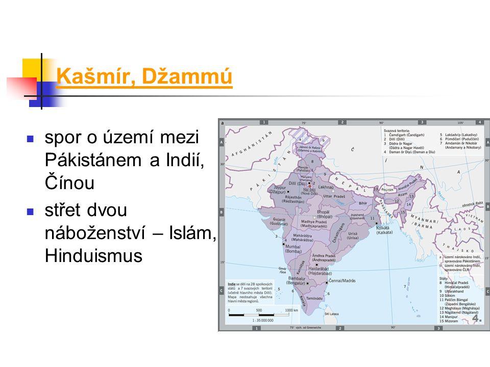 Kašmír, Džammú spor o území mezi Pákistánem a Indií, Čínou