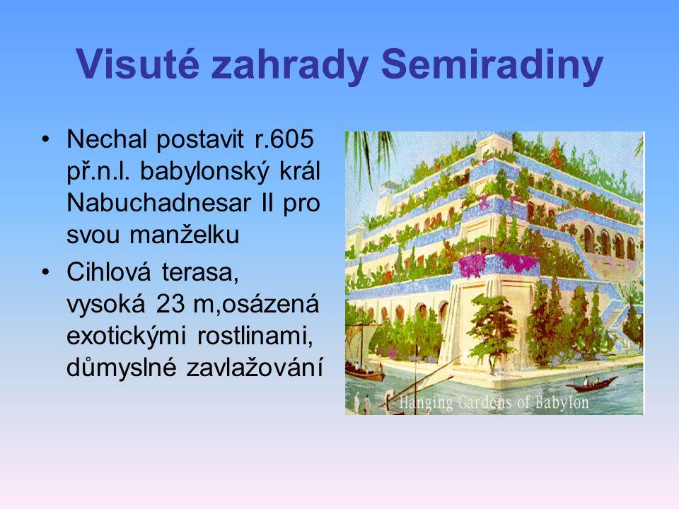 Visuté zahrady Semiradiny