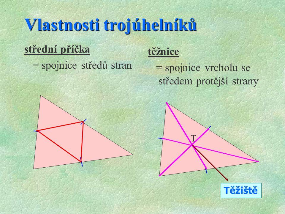 Vlastnosti trojúhelníků