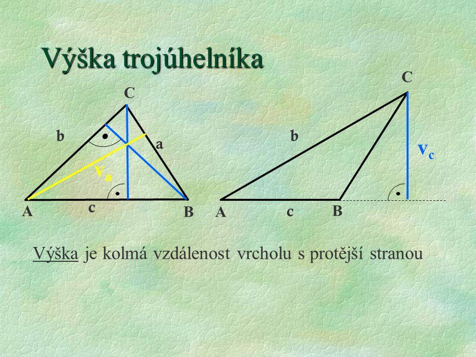 Výška trojúhelníka vc va
