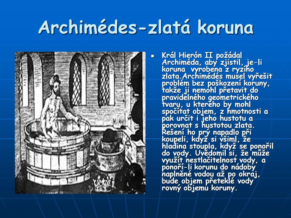 Archimédes-zlatá koruna