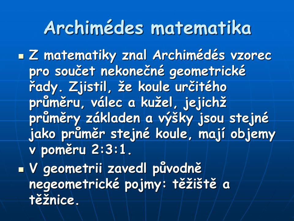 Archimédes matematika