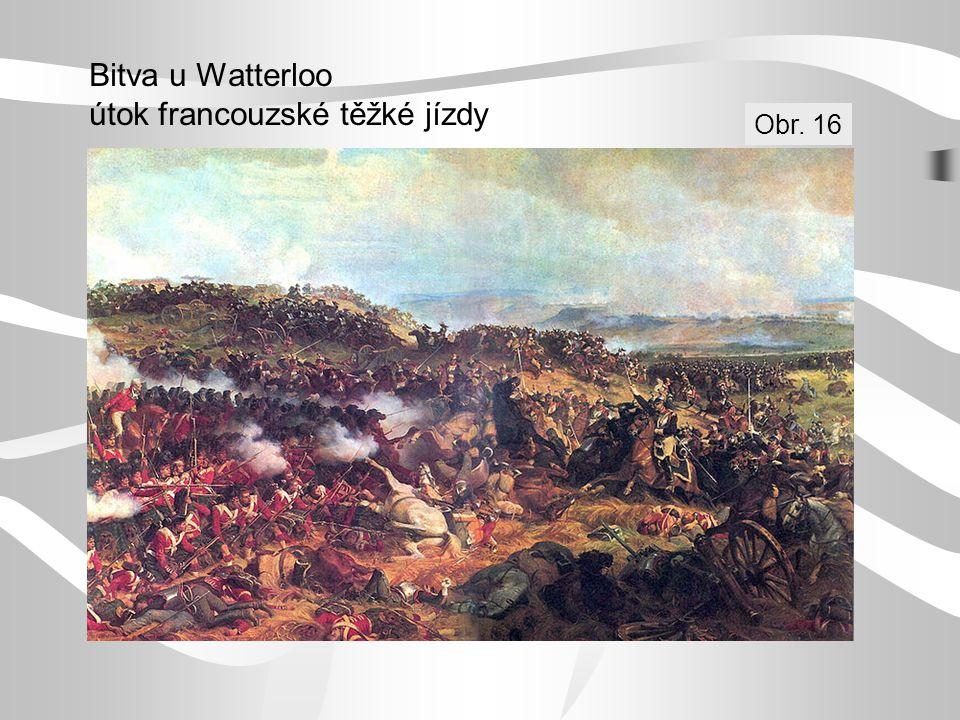 Bitva u Watterloo útok francouzské těžké jízdy