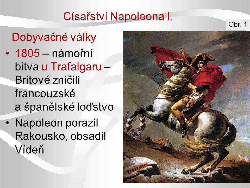 Napoleon porazil Rakousko, obsadil Vídeň