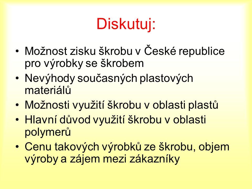 Diskutuj: Možnost zisku škrobu v České republice pro výrobky se škrobem. Nevýhody současných plastových materiálů.