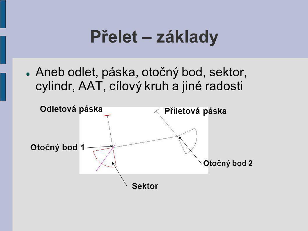 Přelet – základy Aneb odlet, páska, otočný bod, sektor, cylindr, AAT, cílový kruh a jiné radosti. Odletová páska.