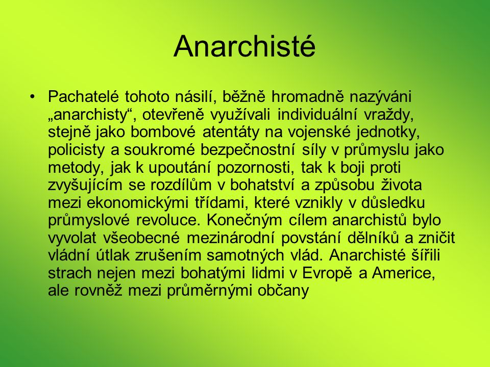 Anarchisté