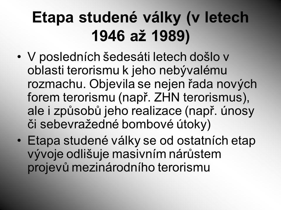 Etapa studené války (v letech 1946 až 1989)