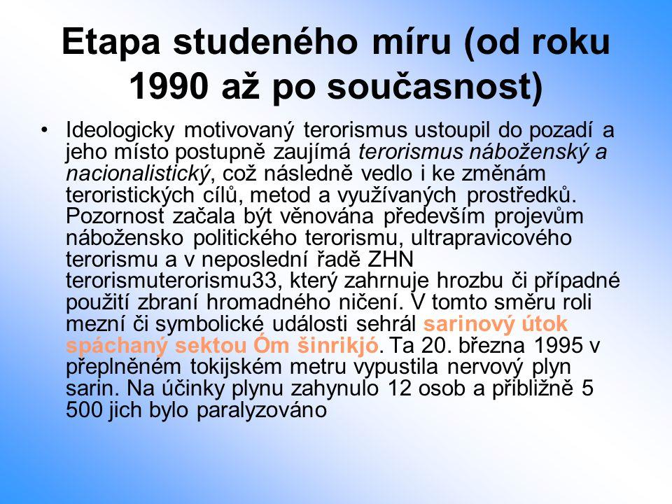 Etapa studeného míru (od roku 1990 až po současnost)