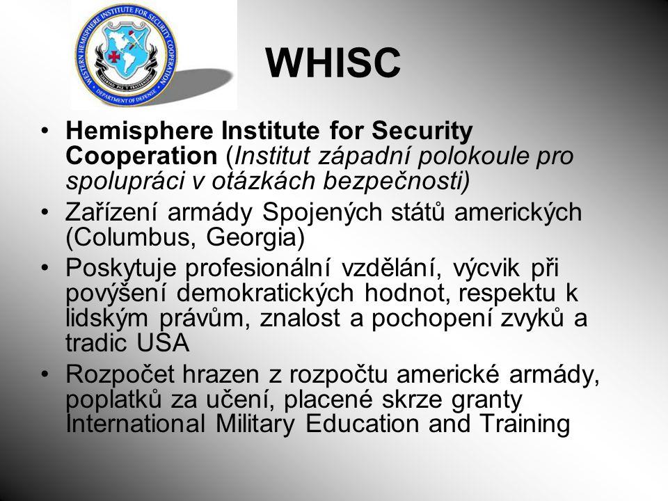 WHISC Hemisphere Institute for Security Cooperation (Institut západní polokoule pro spolupráci v otázkách bezpečnosti)