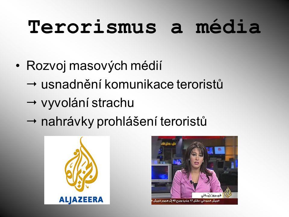 Terorismus a média Rozvoj masových médií
