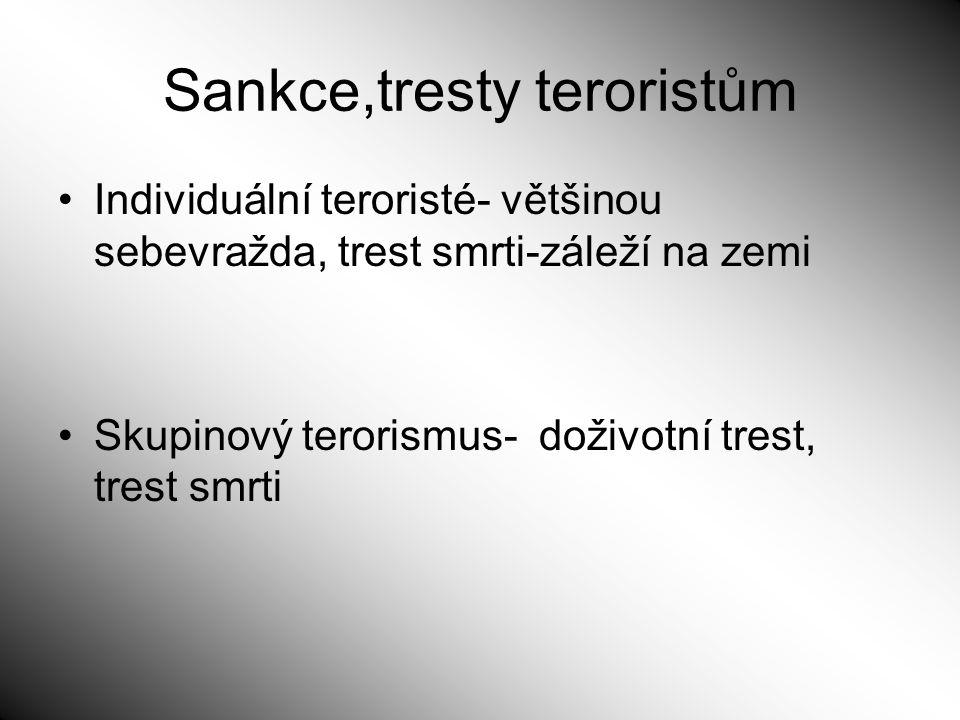 Sankce,tresty teroristům