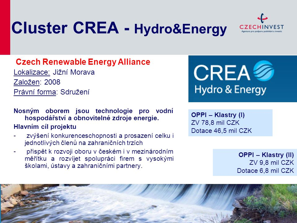 Cluster CREA - Hydro&Energy