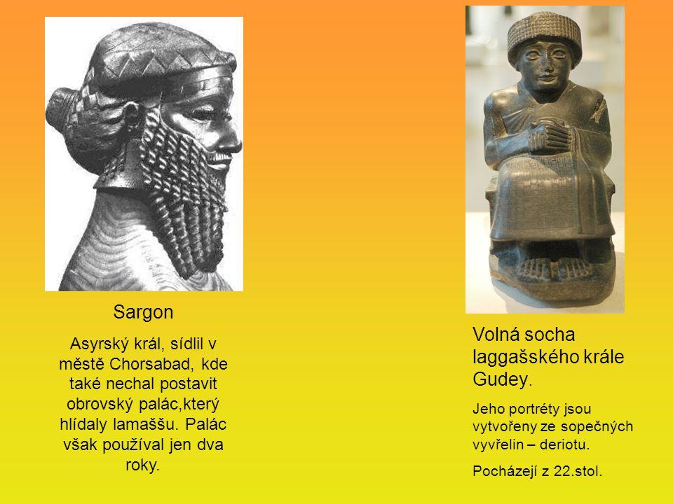 Volná socha laggašského krále Gudey.