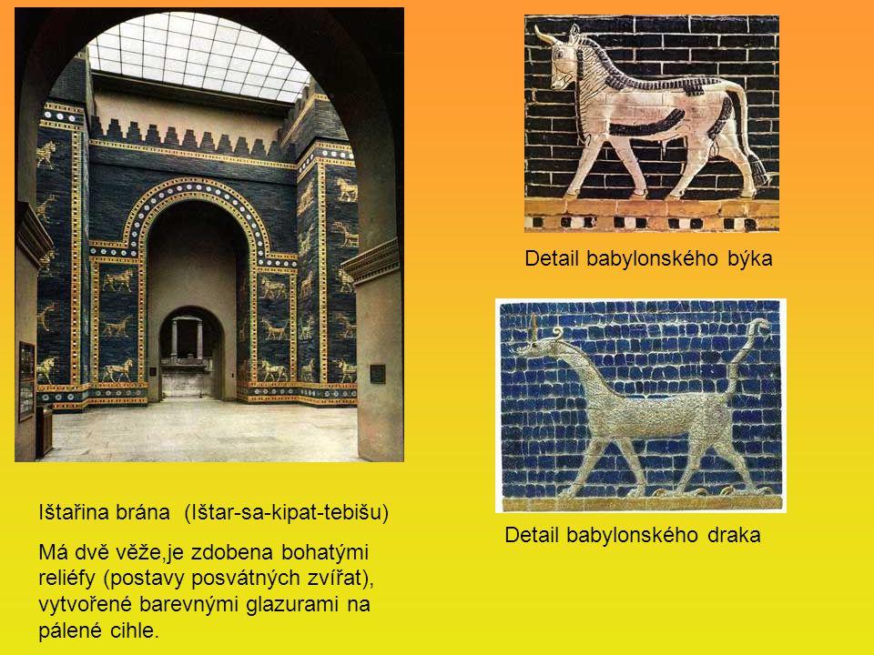 Detail babylonského býka