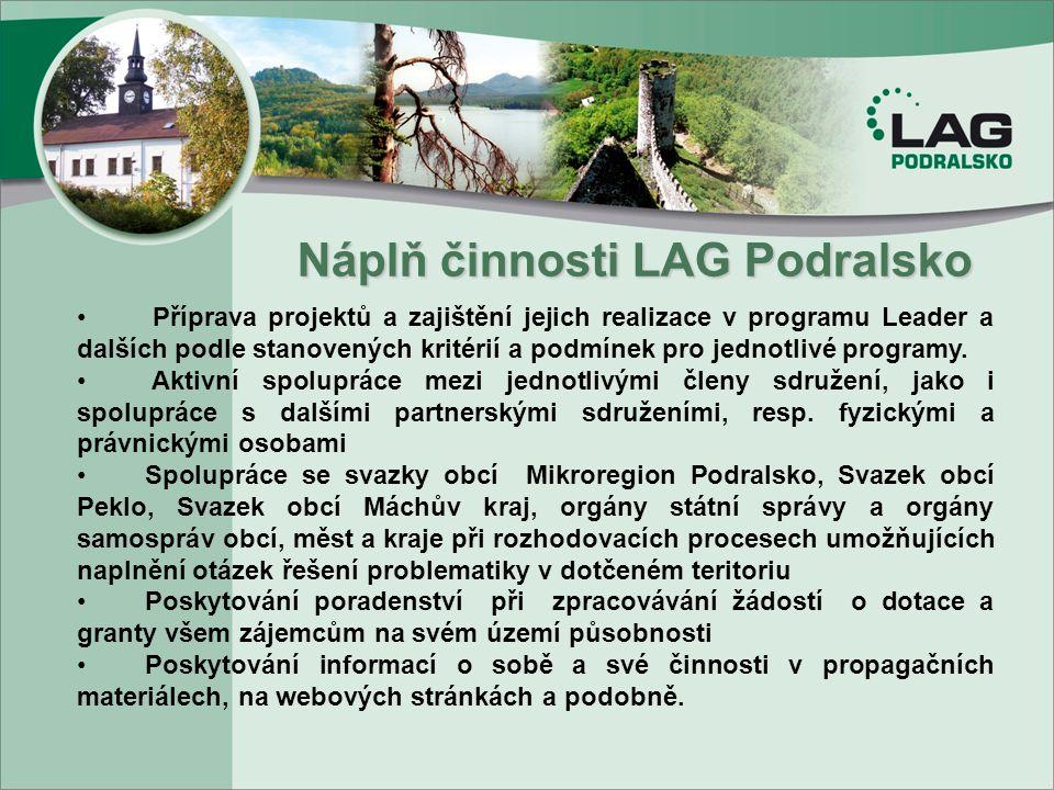 Náplň činnosti LAG Podralsko .