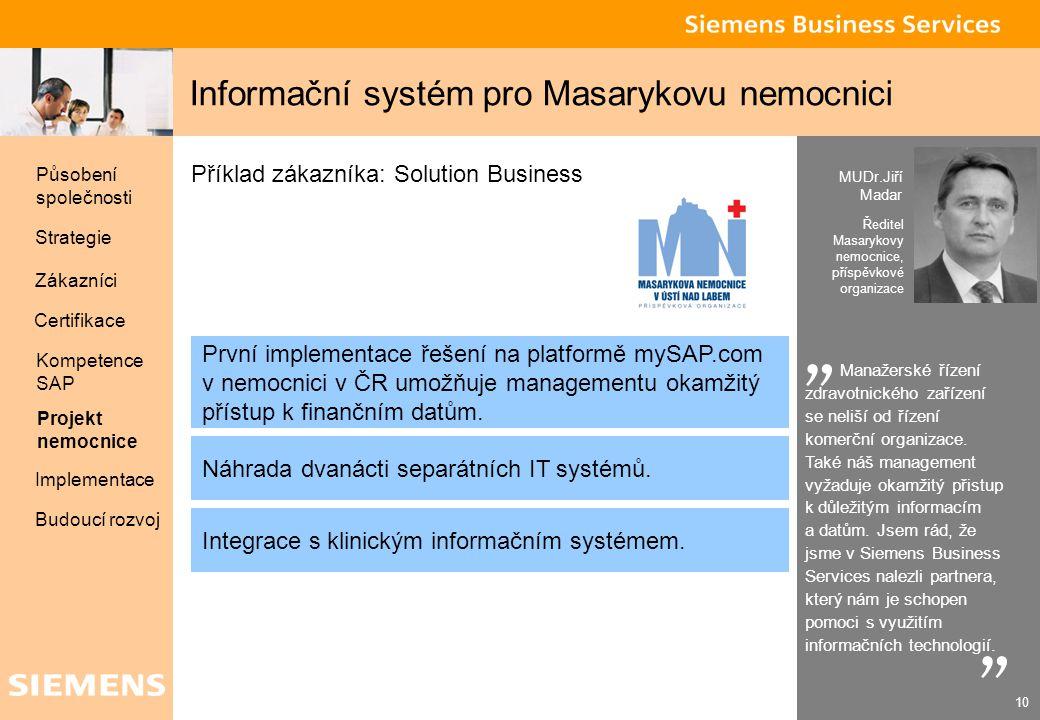 Informační systém pro Masarykovu nemocnici