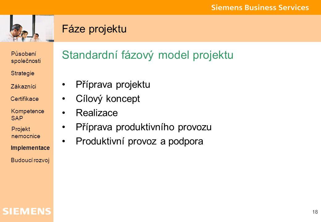 Standardní fázový model projektu