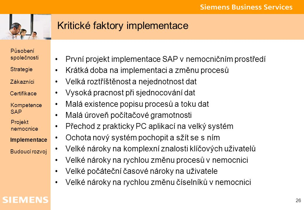 Kritické faktory implementace