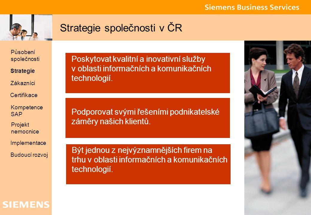 Strategie společnosti v ČR