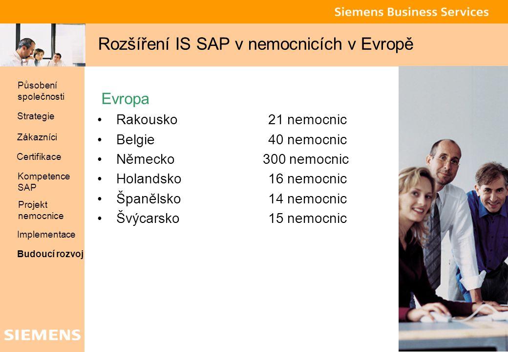 Rozšíření IS SAP v nemocnicích v Evropě