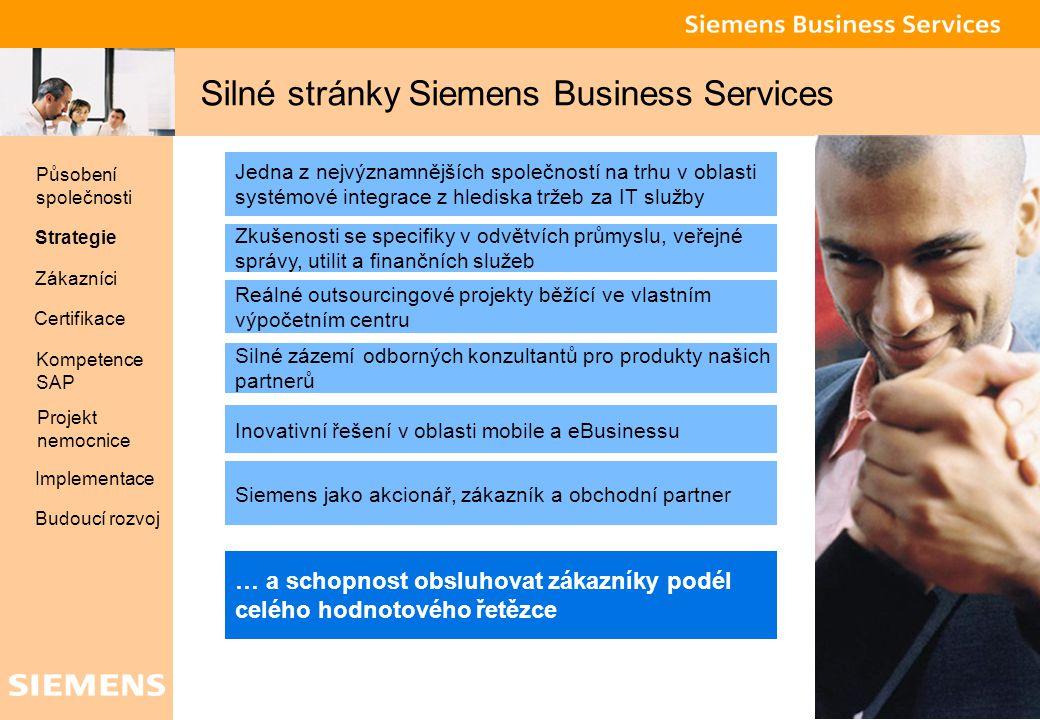 Silné stránky Siemens Business Services
