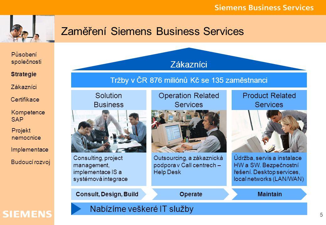 Zaměření Siemens Business Services
