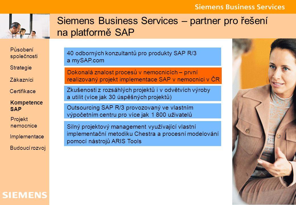 Siemens Business Services – partner pro řešení na platformě SAP