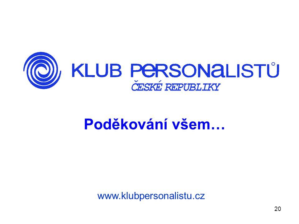Poděkování všem… www.klubpersonalistu.cz