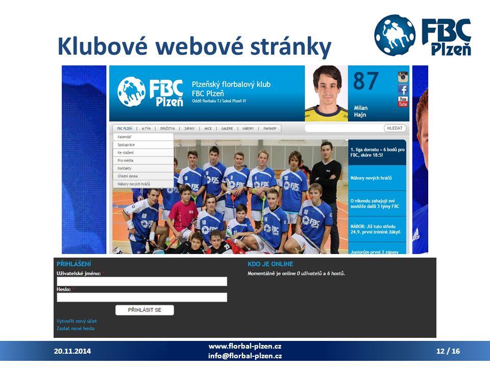 Klubové webové stránky