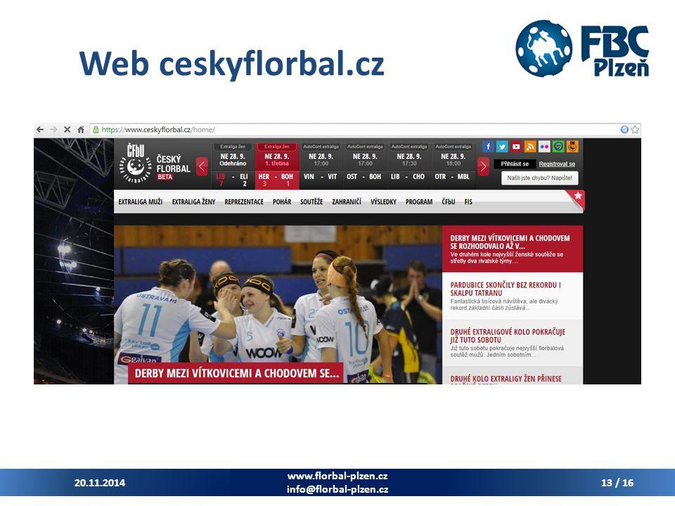 Web ceskyflorbal.cz www.florbal-plzen.cz 7.4.2017