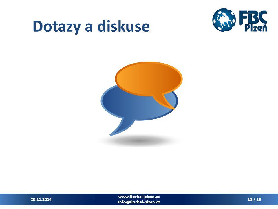 Dotazy a diskuse 7.4.2017 www.florbal-plzen.cz info@florbal-plzen.cz