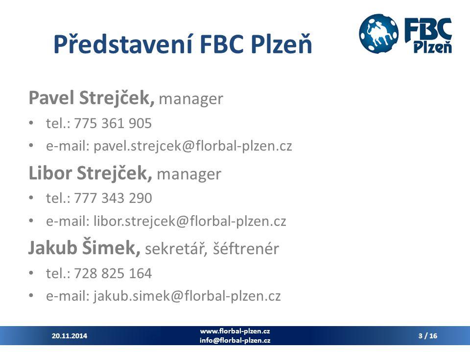 Představení FBC Plzeň Pavel Strejček, manager Libor Strejček, manager