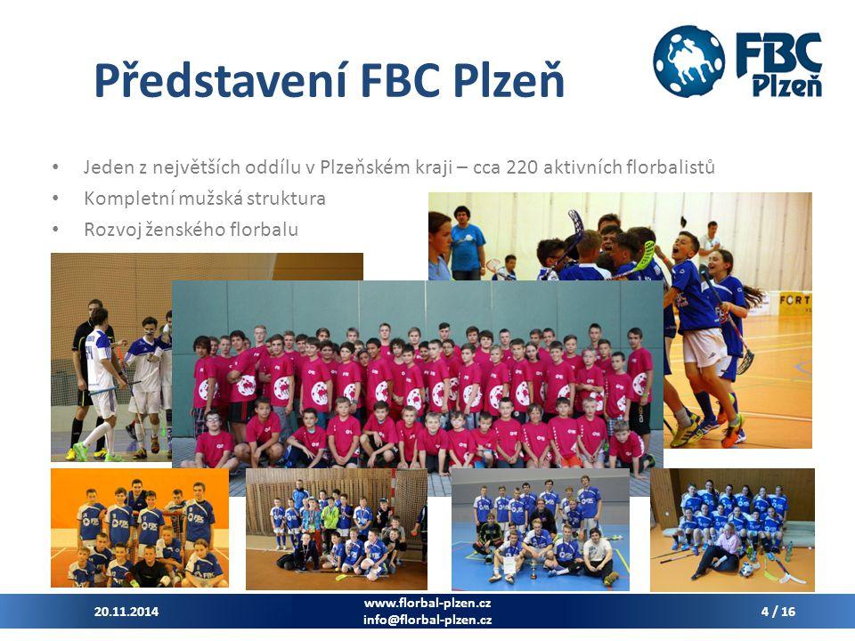 Představení FBC Plzeň Jeden z největších oddílu v Plzeňském kraji – cca 220 aktivních florbalistů. Kompletní mužská struktura.