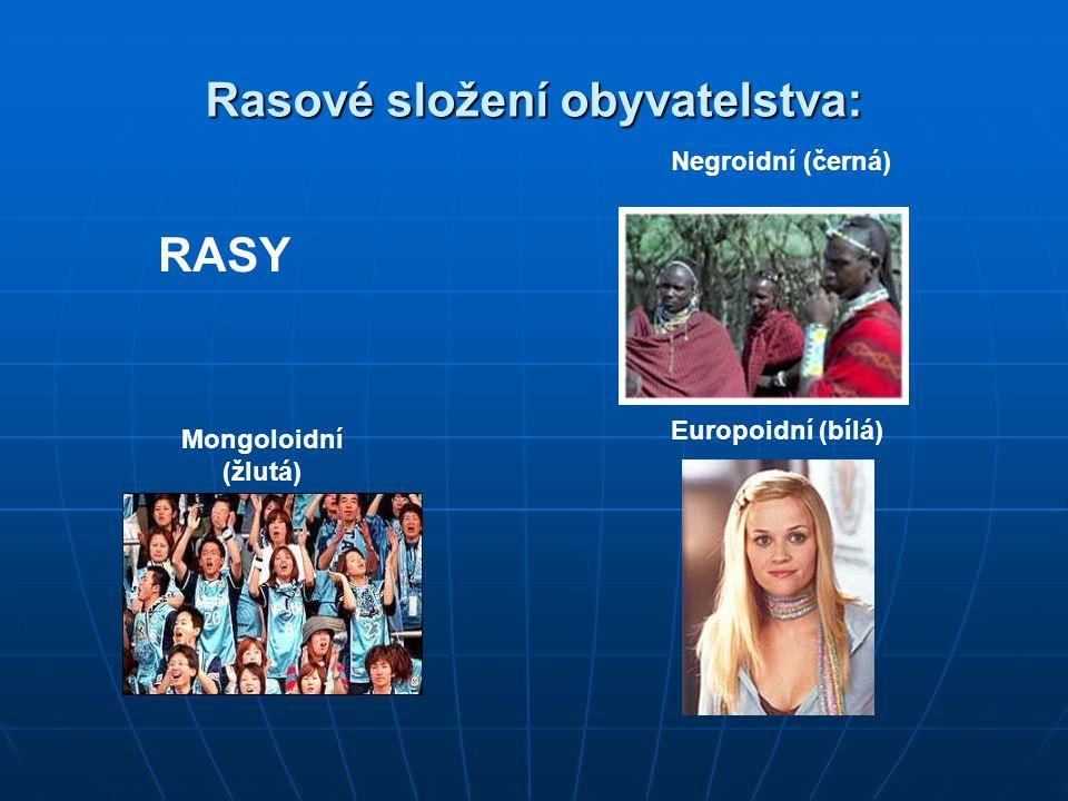 Rasové složení obyvatelstva: