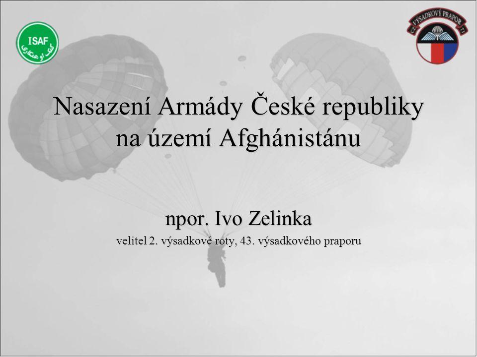 Nasazení Armády České republiky na území Afghánistánu