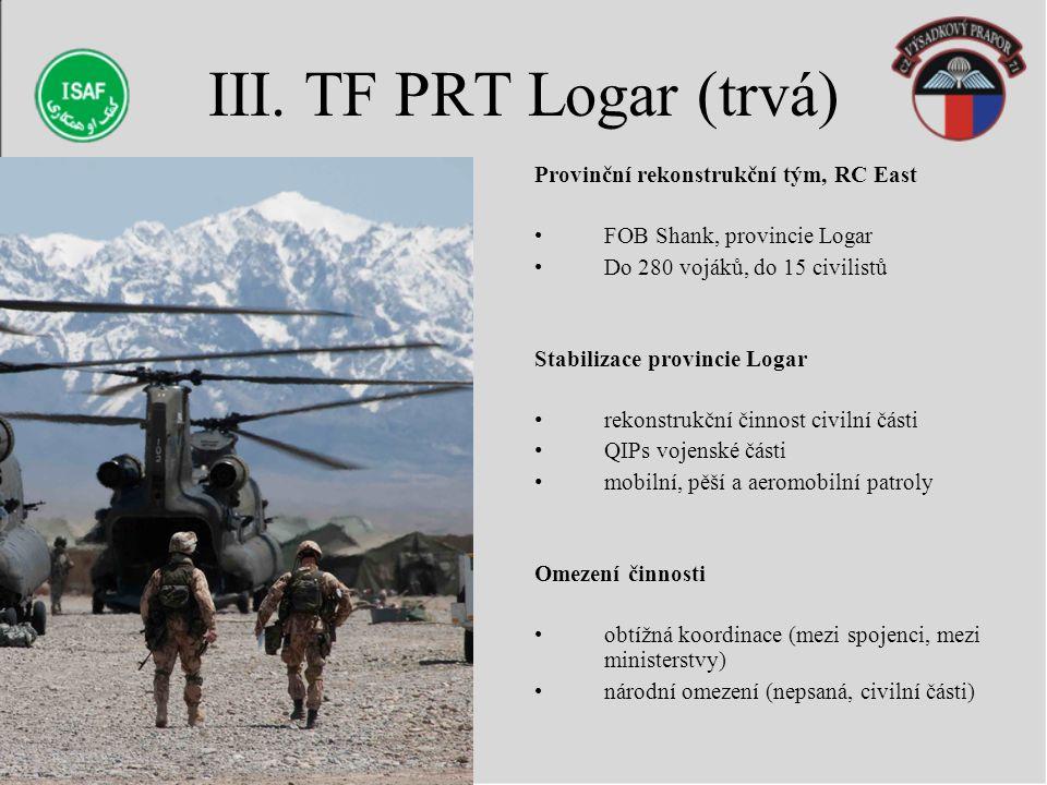 III. TF PRT Logar (trvá) Provinční rekonstrukční tým, RC East