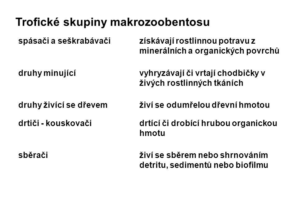 Trofické skupiny makrozoobentosu