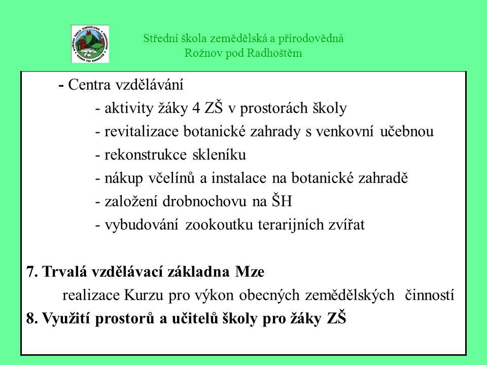 Střední škola zemědělská a přírodovědná Rožnov pod Radhoštěm