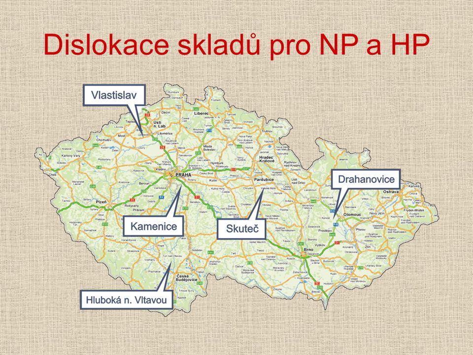 Dislokace skladů pro NP a HP