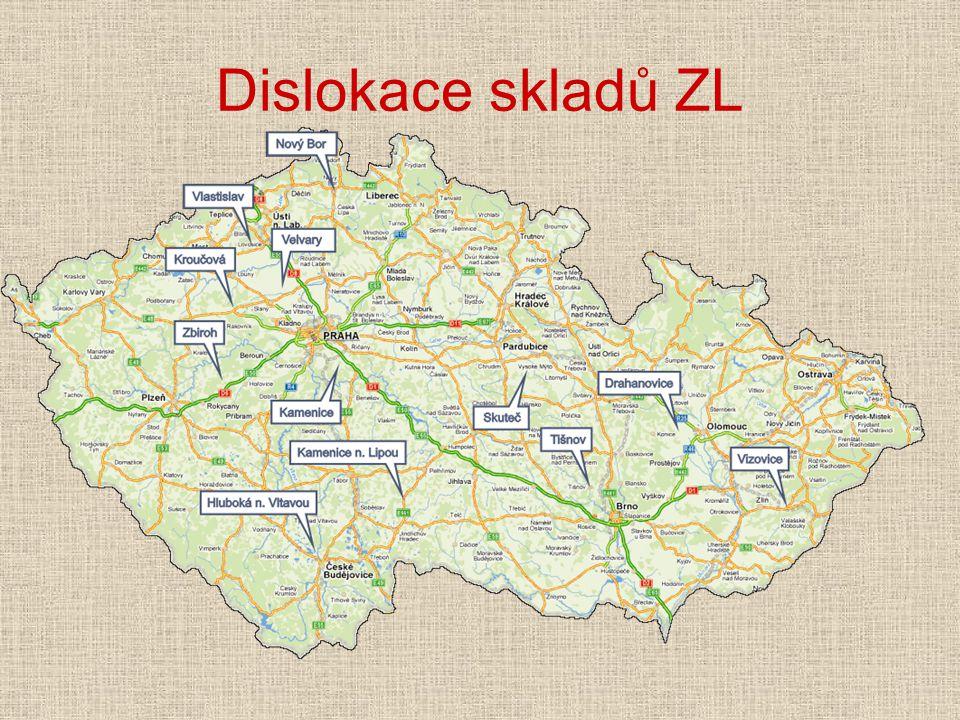 Dislokace skladů ZL