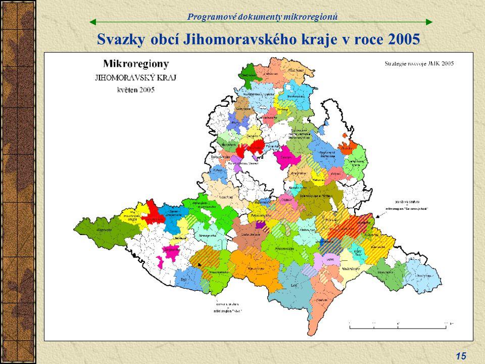 Svazky obcí Jihomoravského kraje v roce 2005